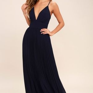 Lulus Depths of My Love Navy Blue Maxi Dress